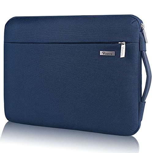 Voova Smart Laptop Sleeve Hülle Computer Tragetasche mit aufsteckbarer separater Zubehörtasche, kompatibel mit 13-13,3 Zoll MacBook Air/MacBook Pro, 13 XPS / Chromebook / Notebook, wasserdicht, Blau