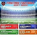 Jumbo Fantasy Football Draft Board 2021 Kit - 4'x1' Huge Labels & Big Draft Board
