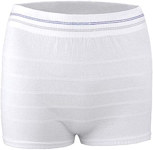 Mesh Postpartum Underwear High Waist Disposable Post Bay C-Section Recovery Maternity Panties for Women (White-3 Pack, X-Large)