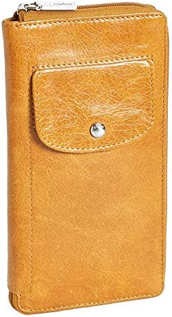 Hobo International Tatum Vintage Zip Around Leather Wallet in Tangerine product image