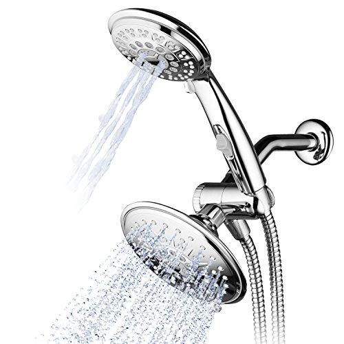Hydroluxe 30-Setting Ultra-Luxury 6 inch Rainfall Shower Head & Handheld 3-way Combo