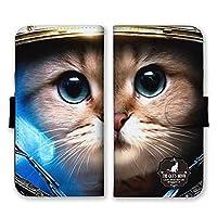 Galaxy A41 (docomo SC-41A / au SCV48) (LL) 手帳型 スマホ ケース カバー スマホケース スマホカバー 子猫 アップ 写真 GalaxyA41 ギャラクシーa41 21945