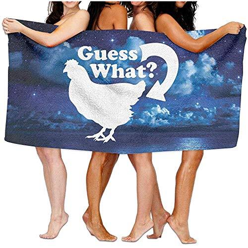 dingjiakemao Guess What Chicken Butt Graphic Toallas de baño de Playa de algodón de 80 x 130 cm