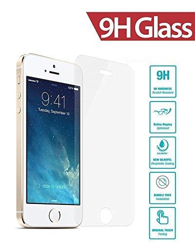 [3-Pack] Vetro Temperato iPhone 5S / 5 / SE / 5C, Pellicola Protettiva WZS in Vetro Temperato Screen Protector Film Ultra Resistente (0,33mm HD Alta trasparente) per iPhone 5S / 5 / SE / 5C