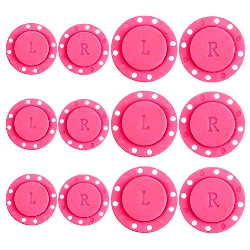 Knowooh Botones a presión magnéticos, Cierre magnético, Botones magnéticos, Cierres magnéticos, Accesorios utilizados para Coser, Manualidades, Bolsa de Ropa y álbumes de Recortes, 12 Piezas (Rosa)