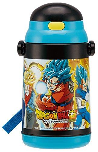 SKATER Water bottle with insulation straw 400ml Dragon balls super 17 Insulated water bottle SSH4C