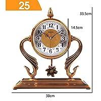 WFL クロック 卓上時計、時計の装飾、リビングルームの置時計、ヨーロッパのレトロな時計、創造的なデスクトップの装飾、振り子時計、時計 最新の (Color : C)