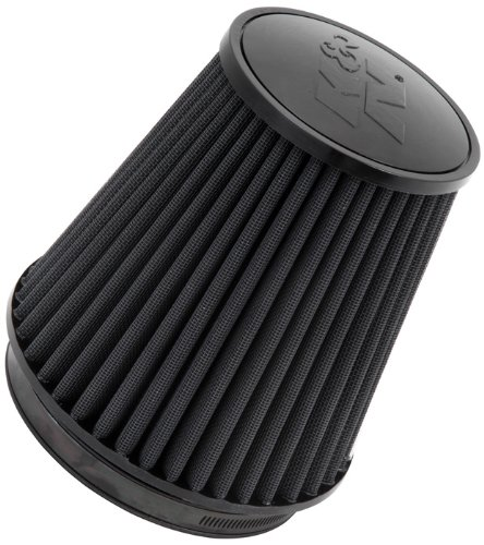 K&N Universal Clamp-On Air Filter: High Performance, Premium, Washable, Replacement Filter: Flange Diameter: 6 In, Filter Height: 7.5 In, Flange Length: 1 In, Shape: Round Tapered, RU-3101HBK