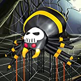 HOOJO 11 FT Scary Spider Halloween Inflatable Outdoor Decoration with White LED Lights, Blow Up Inflatables Yard Decoration for Halloween Holiday Party Yard Garden Lawn Outdoor Indoor
