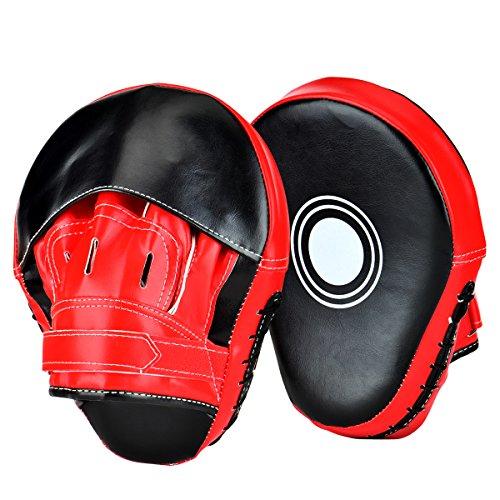 Towinle Pratzen Trainerpratzen Kickboxen Boxen Pratzen für Muay Thai Kickboxen Bewegung Karate Taekwondo Martial Arts - 1 Paar