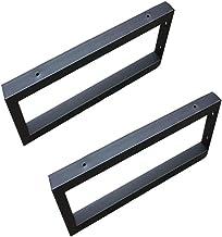 Plankdrager Wandsteun, Zwart/Wit, Wandhouder, Materiaal Ijzer, Effect Lakspray op Hoge Temperaturen, Vierkant Design, 2 Stuks