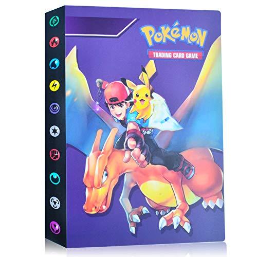 EKKONG Album Pokemon, Album Cromos Pokemon Cartas Álbum Álbum Titular de Tarjetas Pokémon GX EX Cartas Álbum 28 páginas - Puede Contener hasta 224 Tarjetas