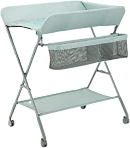 Changing Diaper Table Multipurpose Changer Station with Wheels  Baby Dresser for 0-3 Years Old Nursery  96cm Height Adjustable