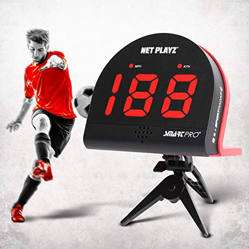NetPlayz Soccer Radars, Speed Sensors Training Equipment (Hands-Free Radar Guns, Shooting Speed Guns | Soccer Gifts, High-Tech Gadget & Gear for Soccer Players, Black (NIS022132021)