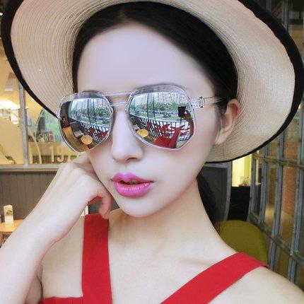 neue sonnenbrille, die sonnenbrille, die frauen die augen, elegante koreanischen kolleginnen, persönlichkeit sterne, fahrer - spiegel,weißen transparenten quecksilber (stoff)