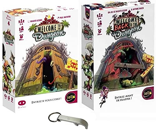 Lot de 2 jeux: Welcome to the dungeon + Welcome back to the dungeon + 1 Décapsuleur Blumie