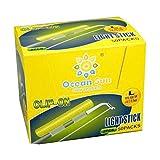 Saim Fishing Glow Sticks 2.7 x 3.2mm L Dry Type Snap Clip On Fishing Rod Top Glow Stick 50 Bags 100...