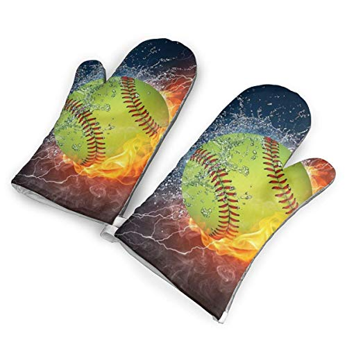 NAA Fire Softball Customized Mouse Pad Rechteck Mouse Pad Gaming Mouse Mp Mp2264 Ofenhandschuhe, Premium hitzebeständige Küche Polyester Gesteppte Übergröße