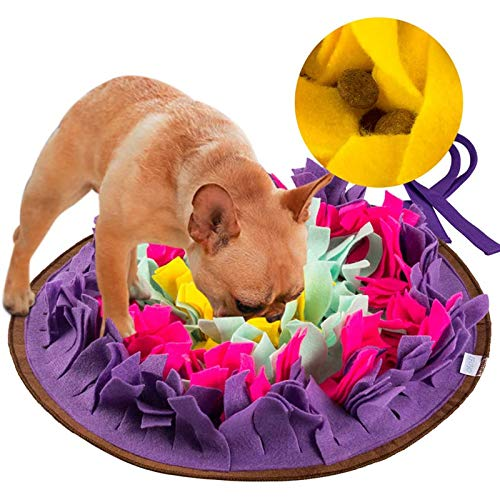 Green House Dog Snuffle Mat Pet Puzzle Toy Sniffing Training Pad Activity Blanket Feeding Mat