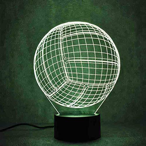 MCJDF Creative 3D Led Luminaire Coloré Luminaire Usb Lampe De Table Nouveauté Balle Forme Ballon De Volleyball Bébé Dormir Night Light Cadeaux