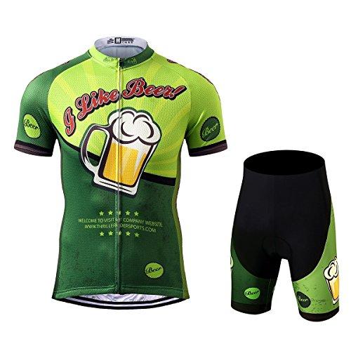 Thriller Rider Sports Uomo I Like Beer Sport e Tempo Libero Abbigliamento Ciclismo Magliette Manica Corta e Pantaloncini Combinazione Large
