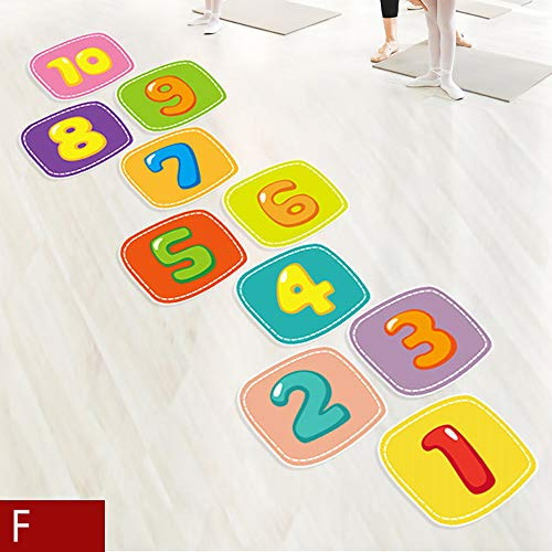 SSZZ Hopscotch Toys Kinderspielplatz Aufkleber Kindergarten Dekorative Sprunggitter Aufkleber Indoor Outdoor Sports,F,M