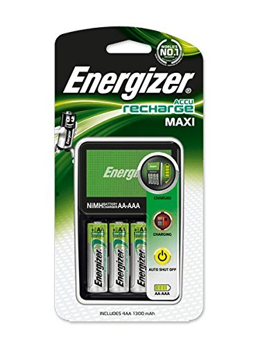 Wilkinson Sword Energizer Maxi Battery Charger with 4x AA 2000mAh Batteries Ref 632325