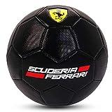 PARIS SPORTING GOODS Ballon Football Scuderia Ferrari (Noir, Taille Officielle 2)