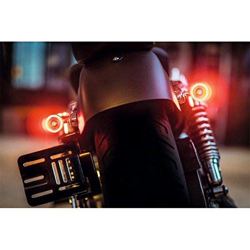 Universal Motorrad 3 in 1 Blinker Rück- Bremslicht- Einheit Bullet 1000 DF E-geprüft Paar (2 Stück)