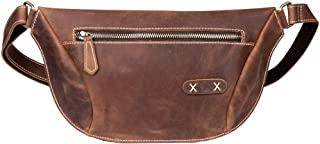 Chest Bag - Vintage Leather Handmade Chest Pocket, Handmade Rubbing/Casual Messenger Bag/Large Capacity/Brown 28 * 4 * 18CM Cool