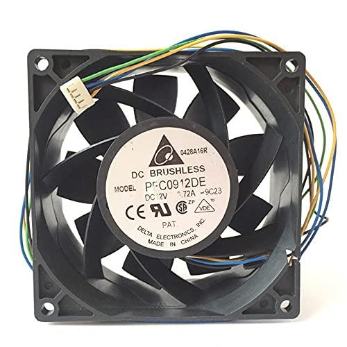 IP68 waterproof cooling fan for delta PFC0912DE 9238 12V 3.72A 4line server powerful fan