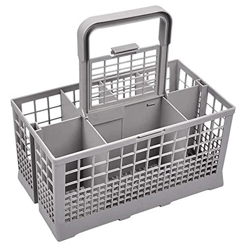 Canasta Universal para Cubiertos para lavavajillas Piezas de jaulas para lavavajillas Rejilla de plástico de Repuesto Soporte para Cubiertos Utensilios de Cocina Compatible con lavavajillas Cuchillo