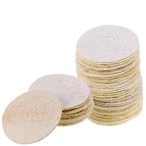 INTVN 20 Piezas de Esponja de Luffa Natural Exponja Exfoliante de Baño de Cuerpo Estropajo Natural para Cuerpo Cocina de Esponja Vegetal Natural Estropajo de Esponja Vegetal Esponja Accesorios