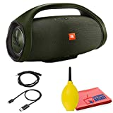 JBL Boombox Portable Bluetooth Speaker (Green) with 3.5 mm Plug, Micro USB Cable