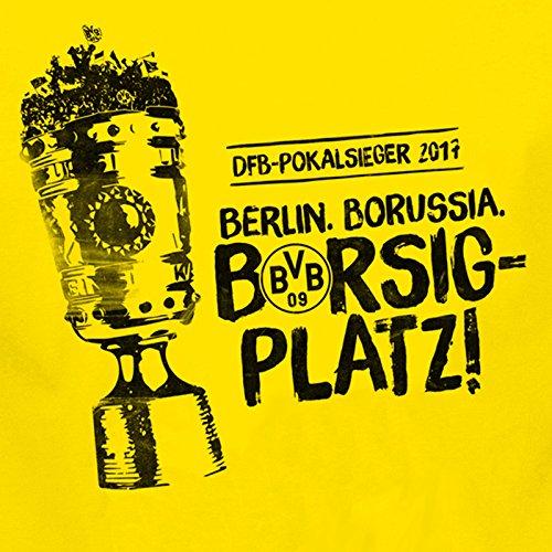 Borussia Dortmund BVB Stockfahne 60 x 90 zum DFB POKALSIEG Sticker Dortmund Forever, Fahne, Flagge, Hissfahne
