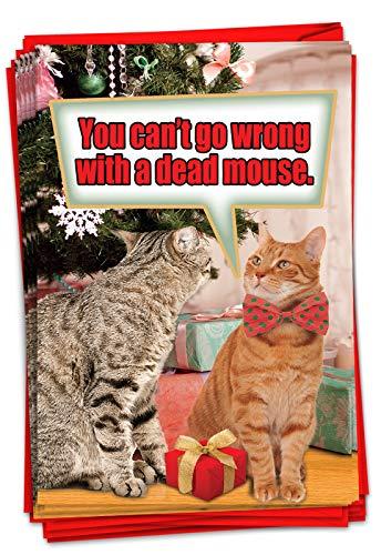 Dead Mouse Christmas Card