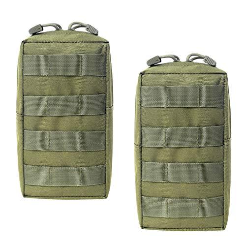Generic - Lote de 2 bolsas de deporte impermeables (11 x 21 x 5,5 cm), color verde