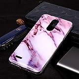 Zhangl Fundas Blandas para teléfonos móviles Funda Protectora de TPU Suave con patrón de Marble for LG K8 Estuches Blandos (Color : Púrpura)