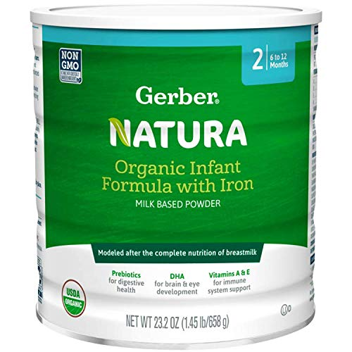 Gerber Natura Organic Baby Formula Milk Powder Stage 2, 23.2 Ounces