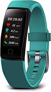 MorePro Fitness Tracker Waterproof Activity Tracker with Heart Rate Blood Pressure Monitor, Color Screen Smart Bracelet wi...
