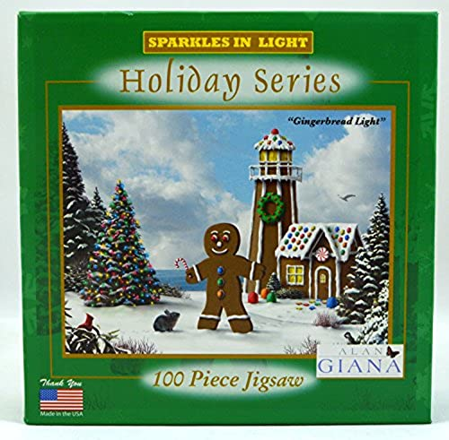 Artist Alan Giana - Gingerbread Light - 100 Piece Jigsaw Puzzle