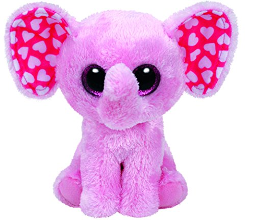 Ty Sugar Elephant Plush, Pink, Regular
