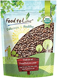 Organic Red Lentils Whole, 1 Pound - Non-GMO, Kosher, Raw, Dried, Sproutable, High in Fiber, Bulk, Product of Canada