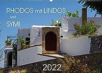 Rhodos mit Lindos und Symi (Wandkalender 2022 DIN A2 quer): Sehenswuerdigkeiten der griechischen Inseln Rhodos und Symi (Monatskalender, 14 Seiten )