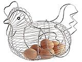 JUNGEN Huevera en Forma de gallina Cesta de Huevos Soporte para Huevos con Forma...