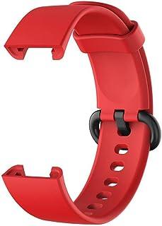 YEKKU Correa de silicona compatible con XiaoMi Mi Mi Watch Lite, correa de repuesto de silicona suave compatible con Redmi...