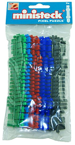 Ministeck 31663 - Farbstreifen-Set, 9 Streifen mit Ersatzsteinen in 6 verschiedenen Farben, als ideale Ergänzung zu den Mosaikbilder Sets