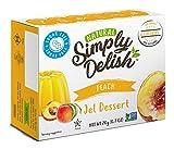 Simply Delish Natural Peach Jel Dessert - Sugar Free, Non GMO, Gluten Free, Fat Free, Vegan, Keto Friendly - 0.7 OZ (Pack of 3)