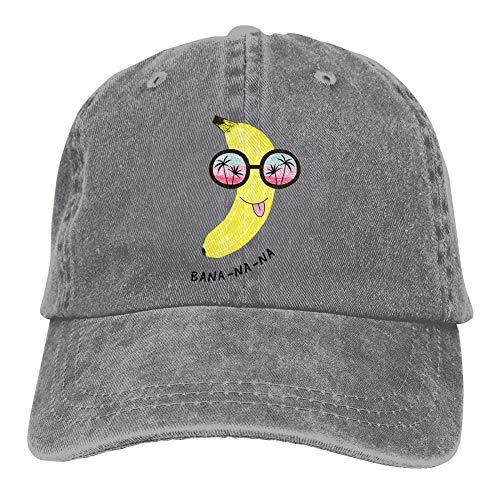 BOIPEEI Divertido plátano en Gafas de Sol Gorra de béisbol Retro Sombrero de Vaquero Gorra Ajustada Sombrero Snapback para Hombres Mujeres Gorra Informal Sombrero para el Sol Gorra Exterior