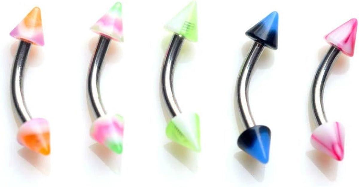 110 PCS Body Jewelry Piercing Eyebrow Navel Belly Tongue Lip Bar Ring 22 Styles